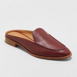 Target Universal Thread burgundy loafer mules